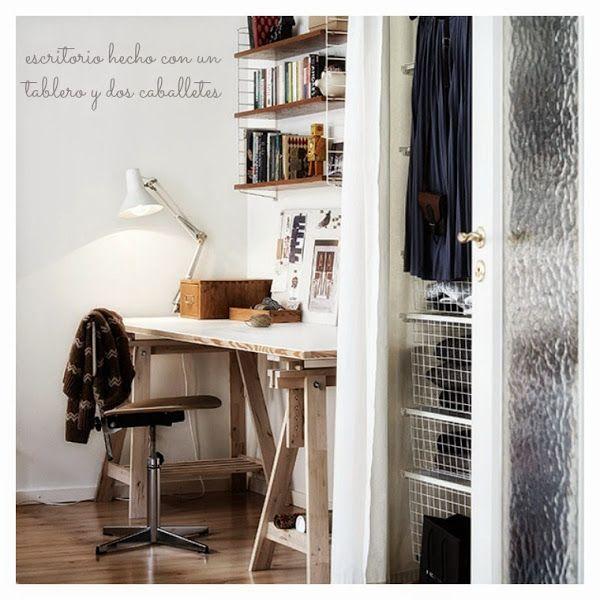 Ideas baratas para decorar el dormitorio y el despacho - Decorar despacho pequeno ...