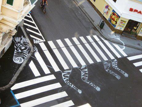 Zebra Crossing Arte Urbano Cebras Arte