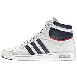 adidas Originals Top Ten Hi Shoes Color: Neo White/New Navy/Red (
