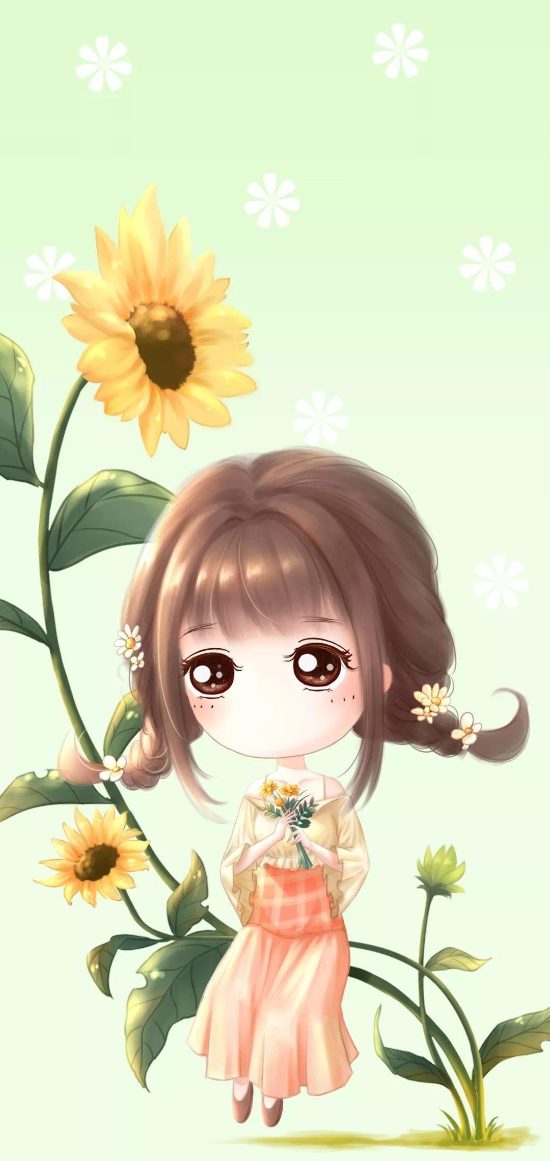 Ide oleh ROSE pada Girl Bunga matahari, Bunga, Wallpaper