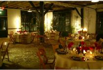 Interior view of the Livery - wedding venue for Britt's December wedding.