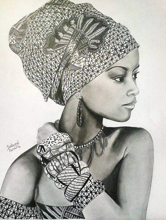 Dessin De Femme Africaine portrait de femme africaine #portrait#dessin#femme#africaine