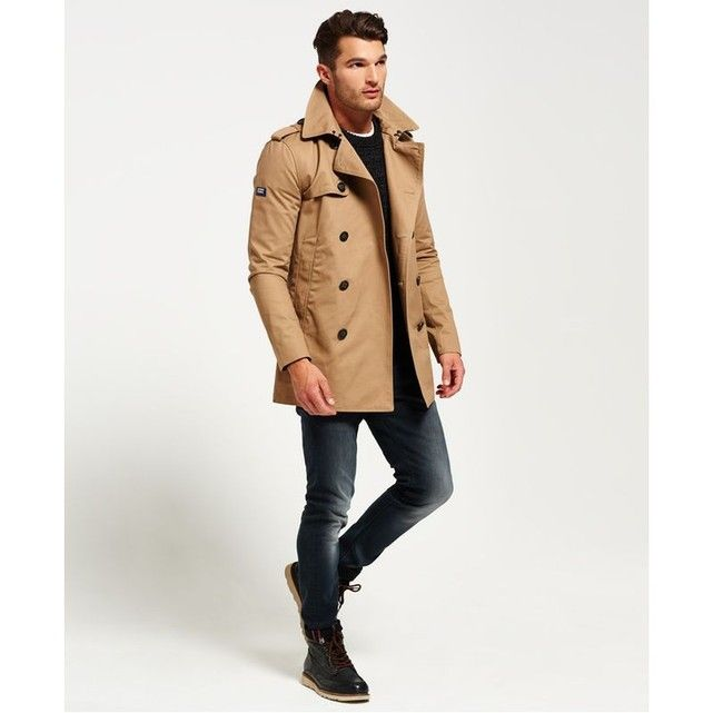 trench superdry bleu homme