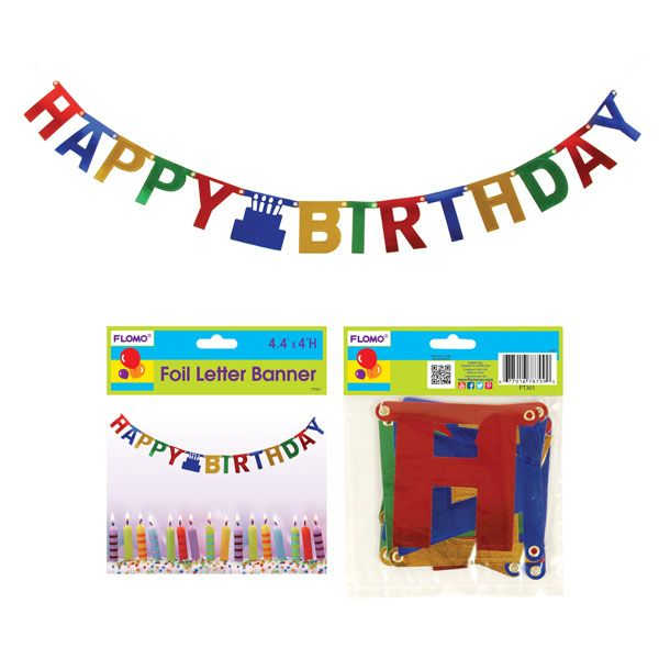 44 foil happy birthday letter bannercase of 36 tags banner birthday birthday decorationsbirthday banner