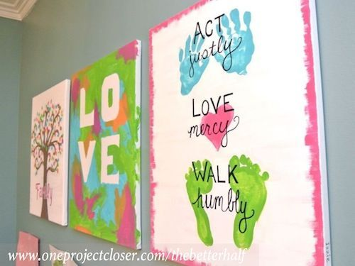 Kids Painting On Canvas