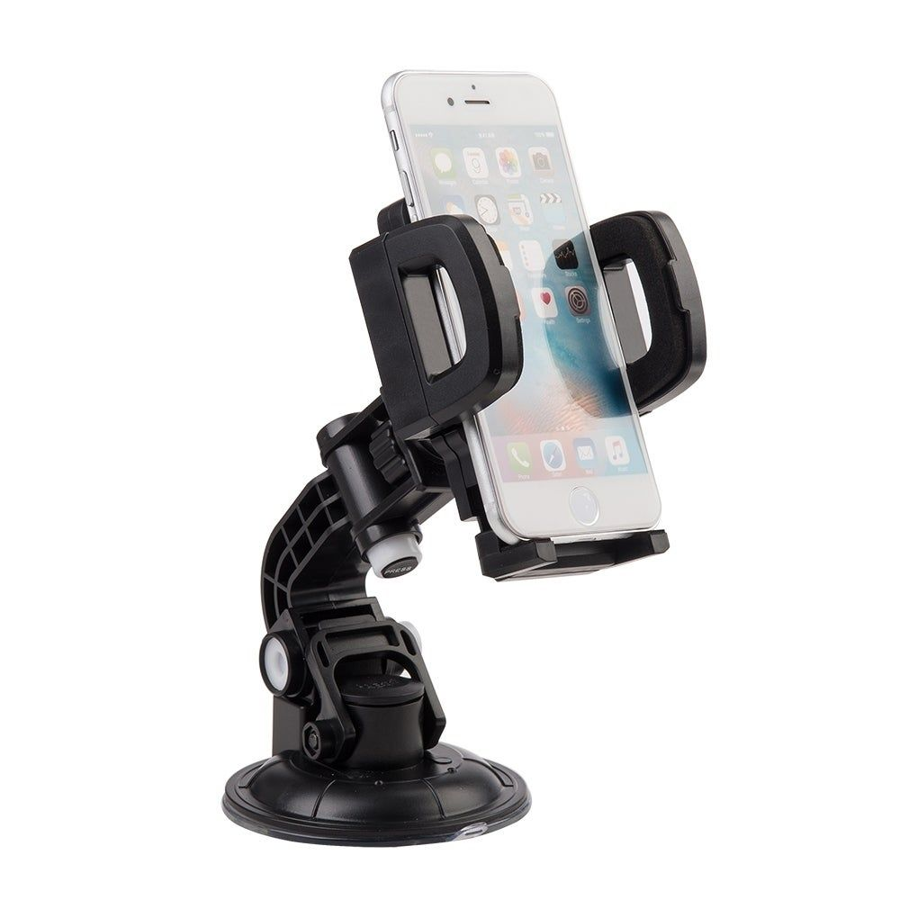 universal car mount holder for cellphone/ mp3 / gps with quick lock (Black)