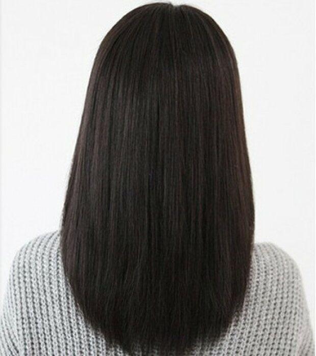 楽天市場 4点セット 清楚系 黒髪 ストレート セミロング フル