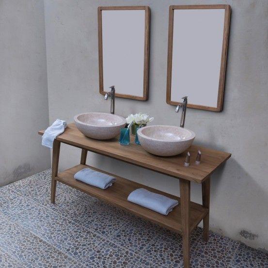 09d4bd402bd90 Meuble sous vasque salle de bain de Bois Dessus Bois Dessous  salledebain   meublesalledebain