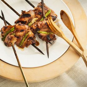 Korean Chicken Skewers, a recipe from ATCO Blue Flame Kitchen's From the Grill 2014 cookbook.