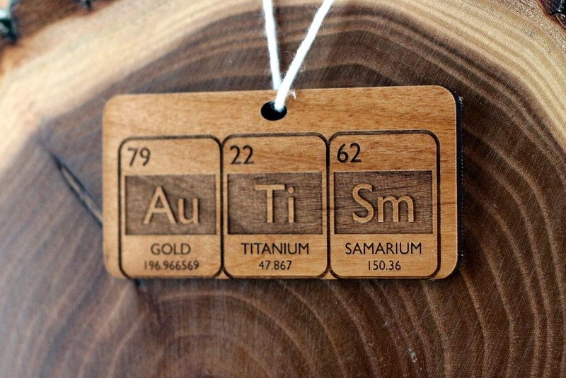 periodic table autism ornament - Periodic Table Autistic