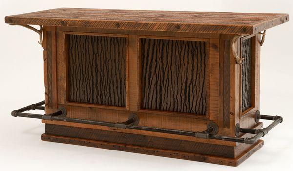 Rustic Redwood Bar Stools Burl Wood Pub Tables Custom Antique - Barnwood bar table