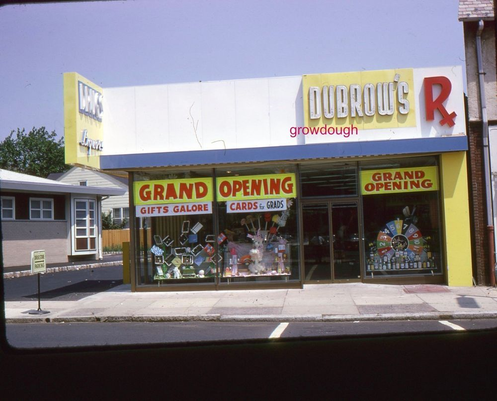 35mm Color Slide Dubrow's Pharmacy July 1965 Grand Opening #DubrowsPharmacy