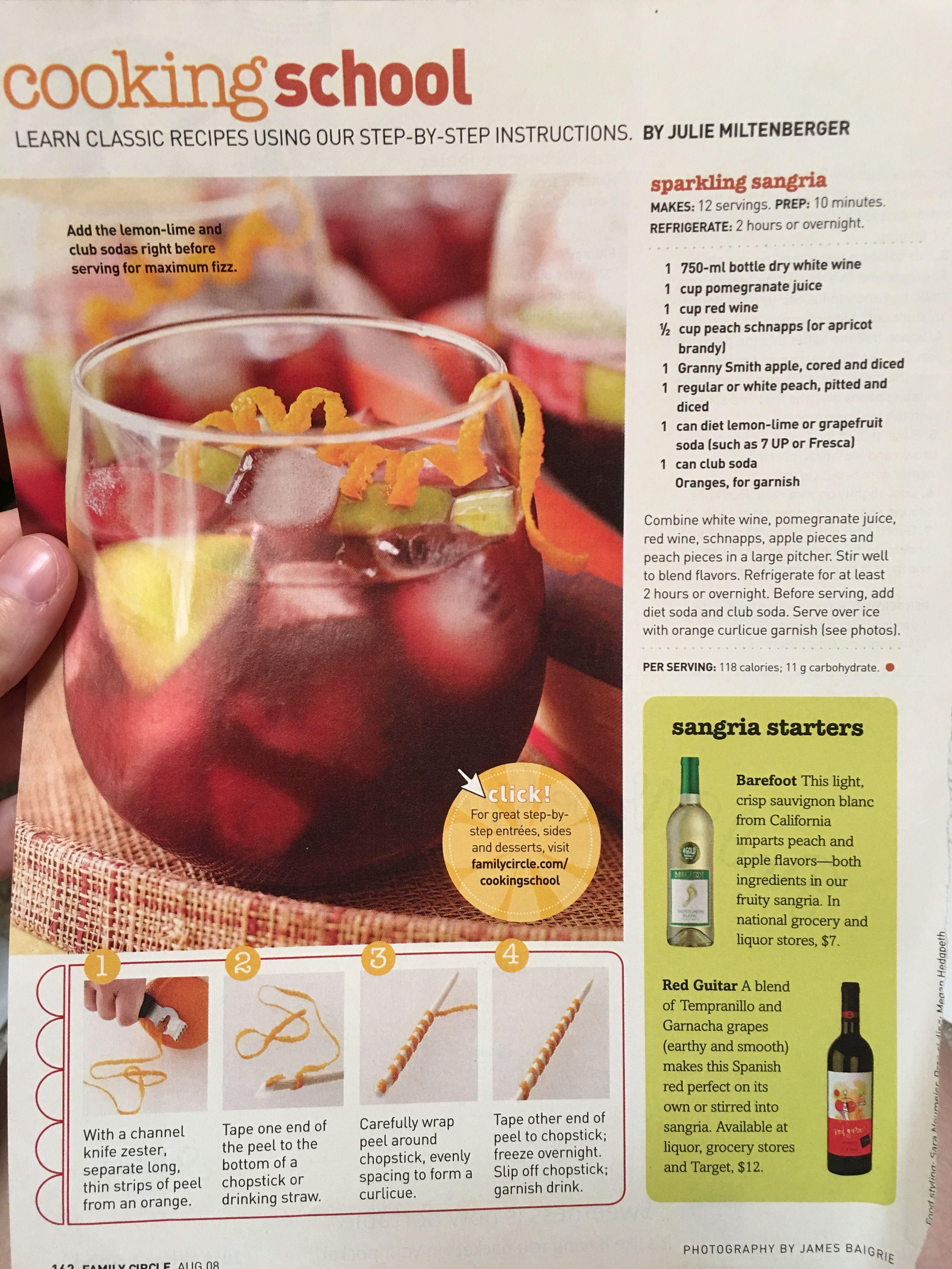 Sparkling Sangria Sparkling Sangria White Wine Cups Classic Food