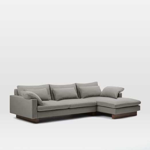 Harmony 2 Piece Chaise Sectional West Elm Sectional Chaise