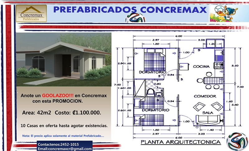 Casas Prefabricadas Costa Rica Prefabricado Modelo Precios Planos