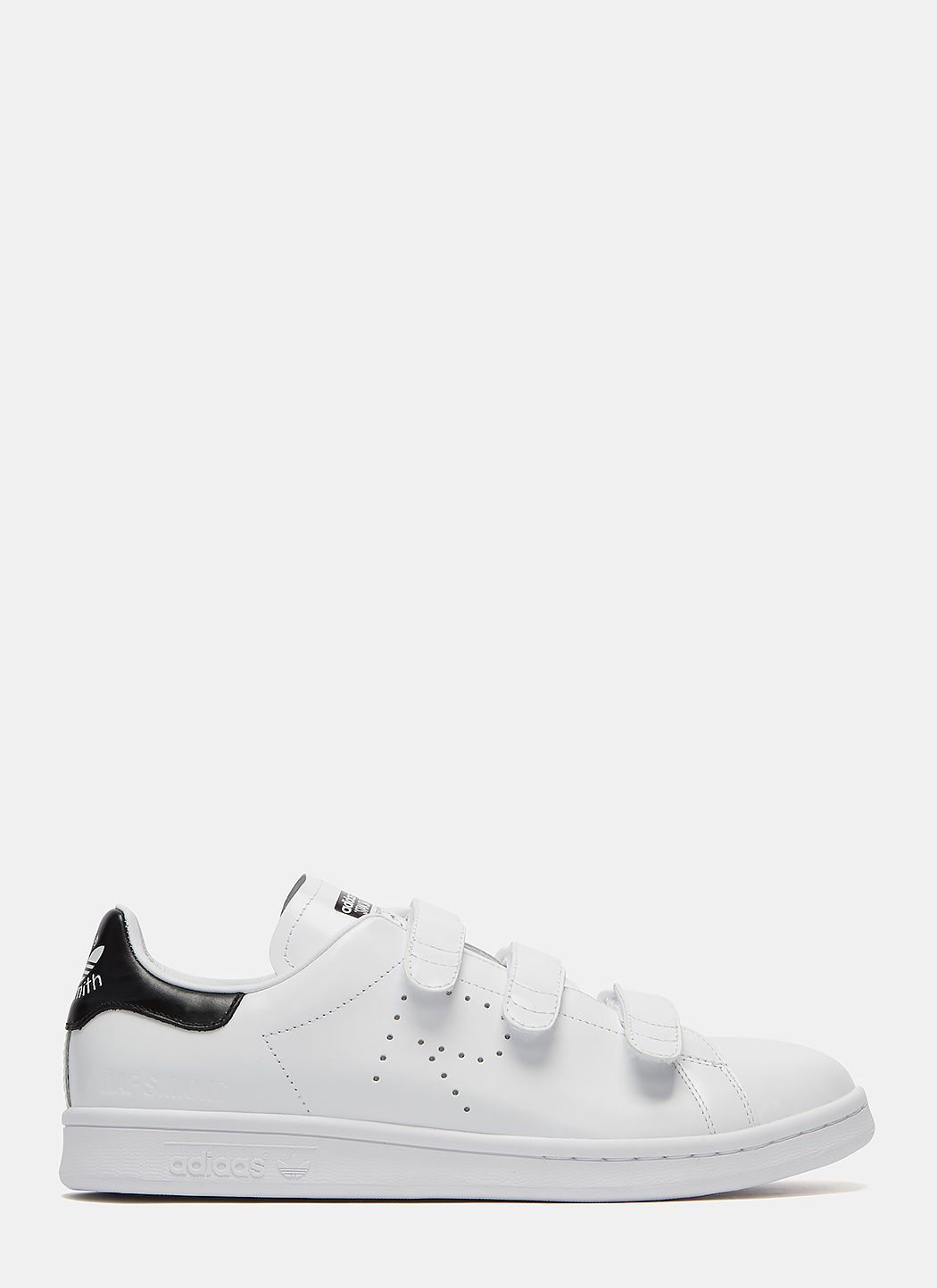 Raf Simons Unisex Metallic Velcro Strapped Stan Smith Comfort Sneakers In White Modesens Sneakers Men Fashion Sneakers Fashion Running Shoes For Men