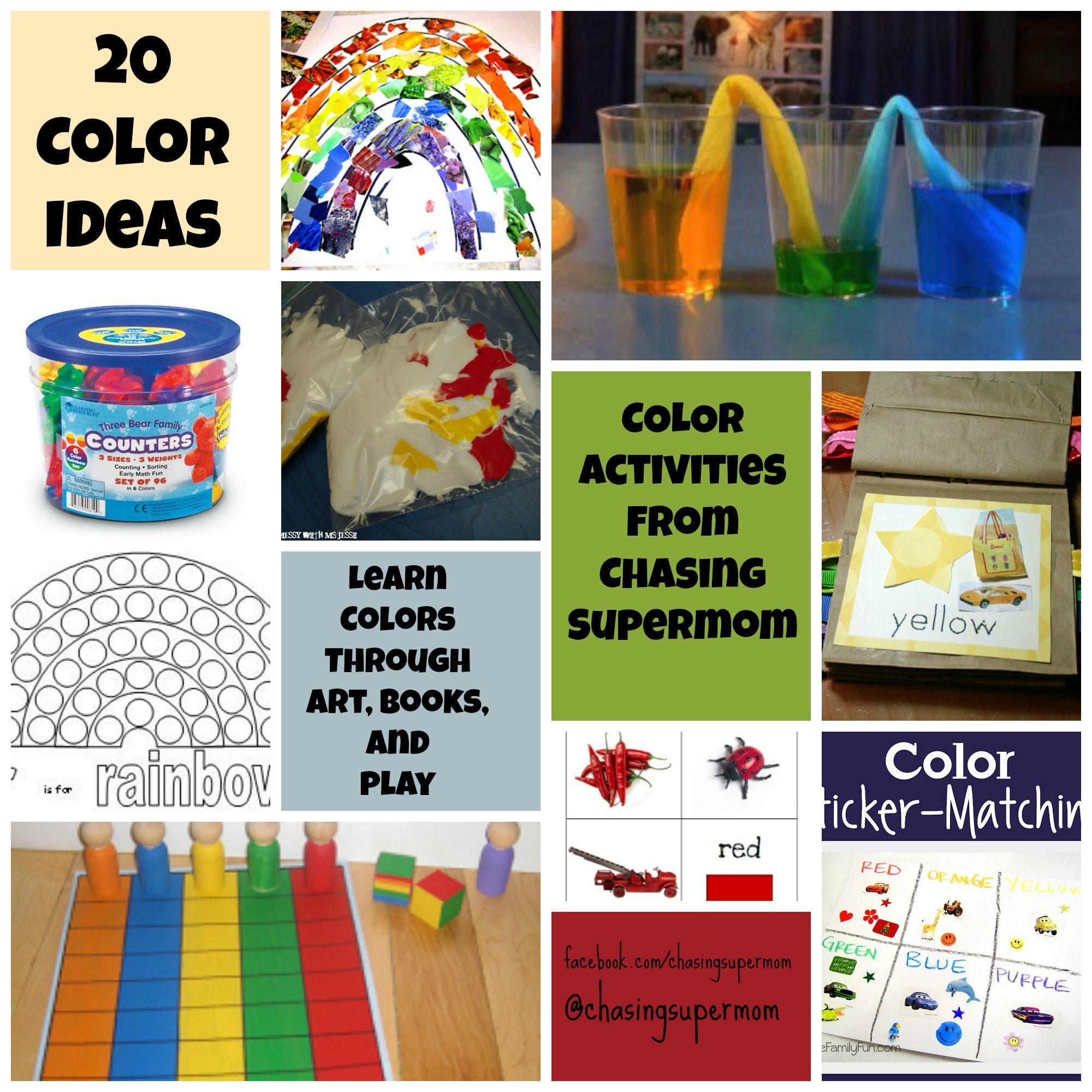 Ready For Kindergarten Day Nine Exploring Color Color Activities For Preschoolers