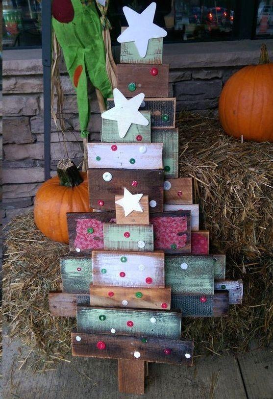 50 Creative Homemade (DIY) Christmas Decorations Ideas - wood christmas decorations