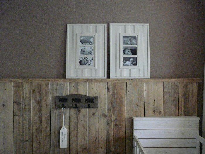 Ongekend lambrisering van steigerhout | hal | Painting wood paneling ZI-86