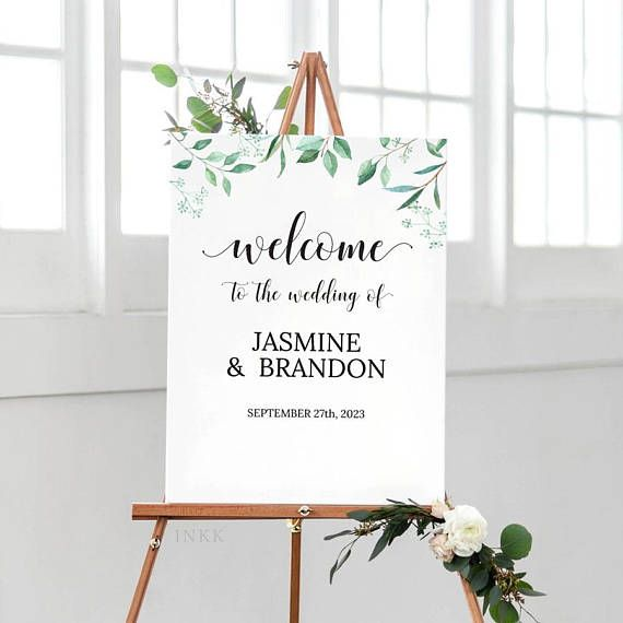photo relating to Welcome Signs Template known as Printable Wedding day Welcome Indicator Template, Custom made Rustic