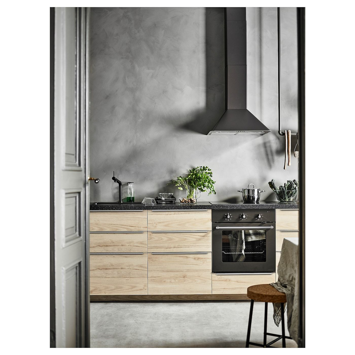 Saljan Arbeitsplatte Schwarz Quarzmuster Laminat Ikea Deutschland Scandinavian Kitchen Kitchen Styling Kitchen Style
