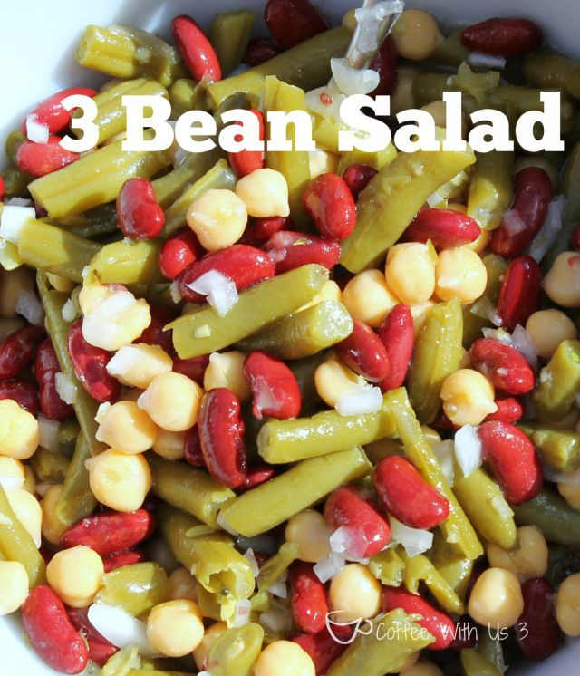 Easy 3 Bean Salad Recipe Coffee With Us 3 Bean Salad Recipes 3 Bean Salad Bean Salad