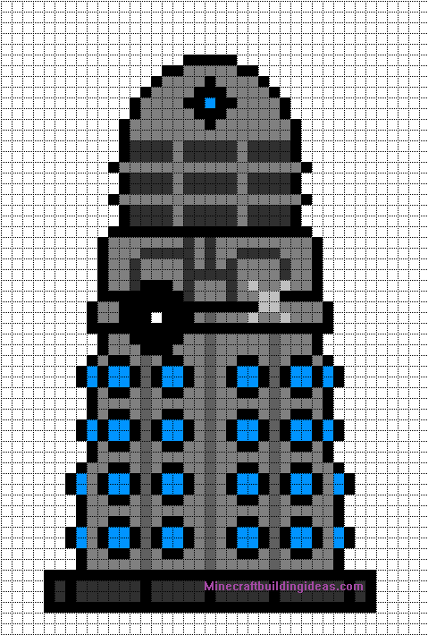Minecraft Pixel Art Templates: Dalek (Doctor who) | Pixel Art Beads ...