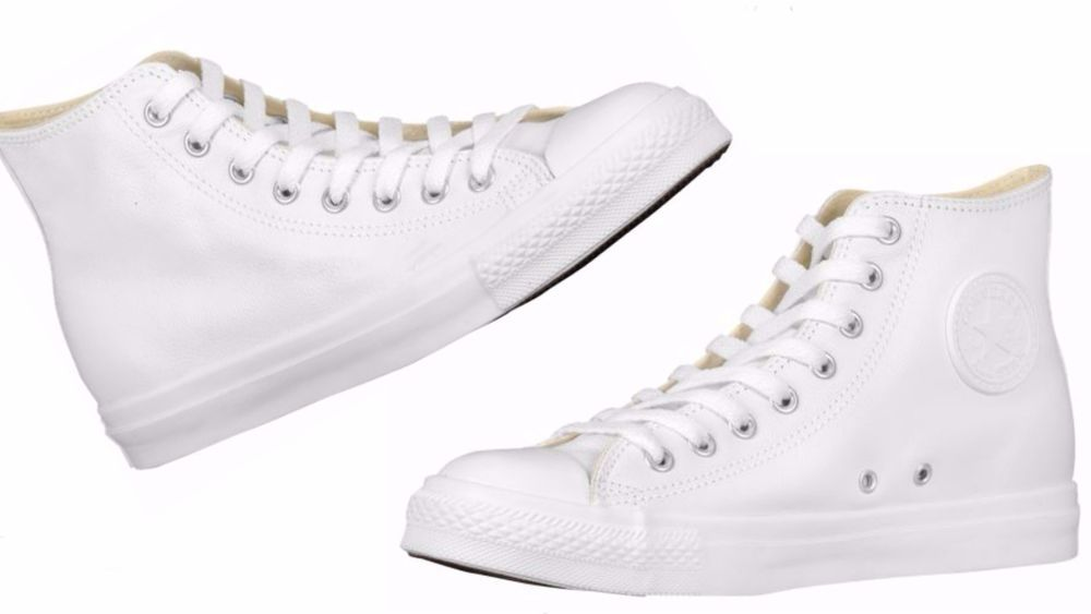 Converse MEN'S ALL STAR CHUCK TAYLOR HI LEATHER WHITE