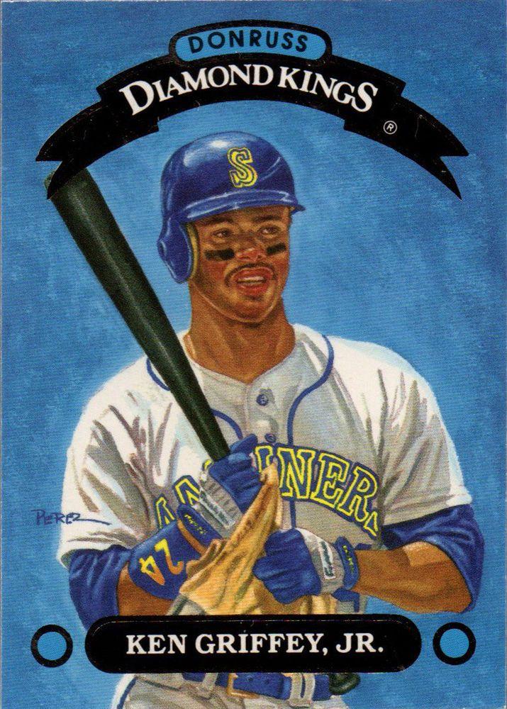 1993 Donruss Diamond Kings Dk1 Ken Griffey Jr In Sports Mem Cards Baseball Cards Baseball Movies Ken Griffey Jr