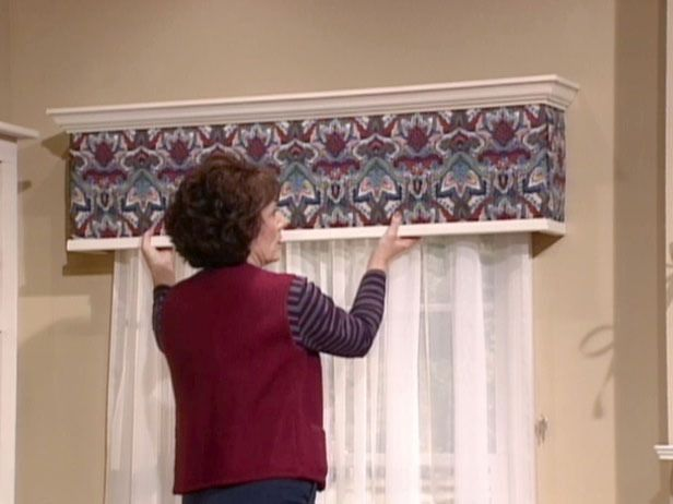 How to Build and Install an Upholstered Window Cornice Box ...
