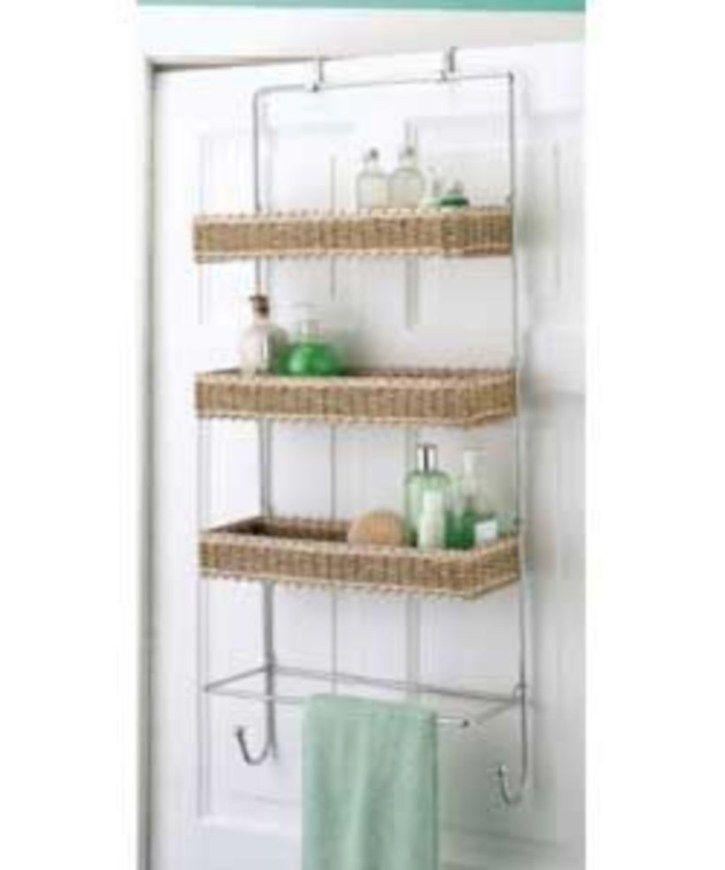 49 Hanging Bathroom Storage Ideas to Maximize your Small Bathroom Space - GODIYGO.COM
