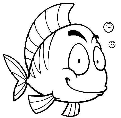 Dibujos De Peces Para Colorear Peces Dibujos Pez Para Colorear