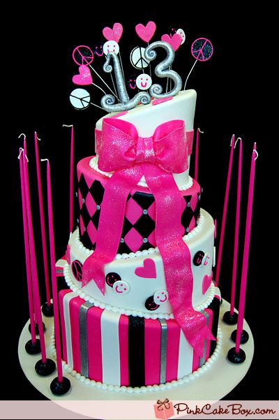 Hot Pink Bat Mitzvah Cake Summit NJ Bat Mitzvah Cakes Bat