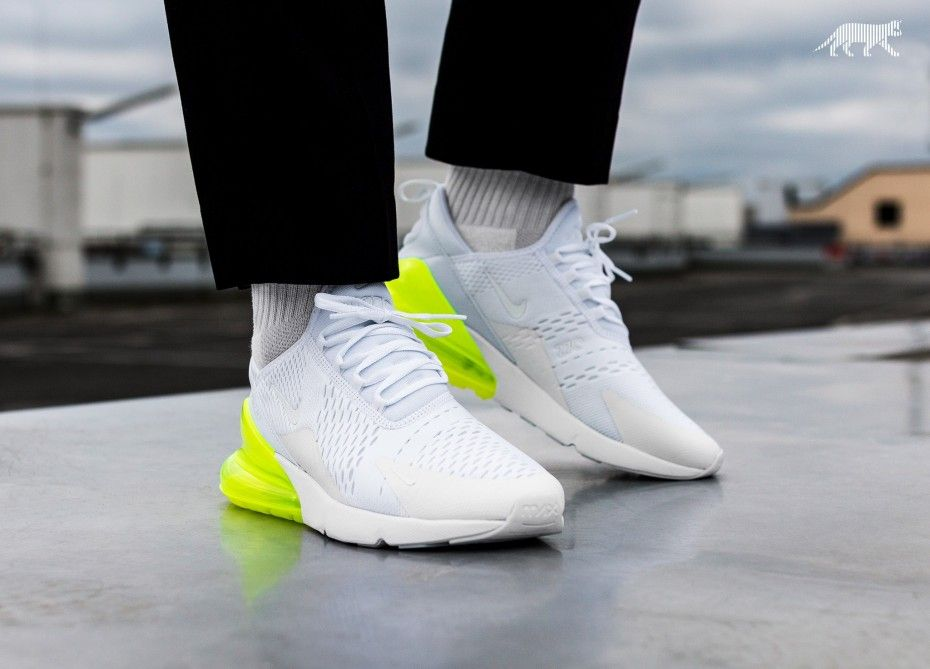 nike air max 270 white volt for sale