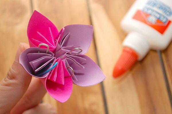 Make a kusudama flower paper ribbon flower and flowers how to make a kusudama flower paper ribbondiy mightylinksfo