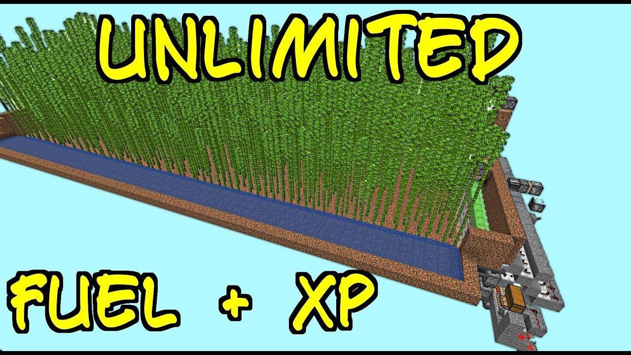 Unlimited Fuel Xp Even When Offline 22 000 Bamboo H 1 14 1 14 2 Minecraft Minecraft Architecture Minecraft Redstone
