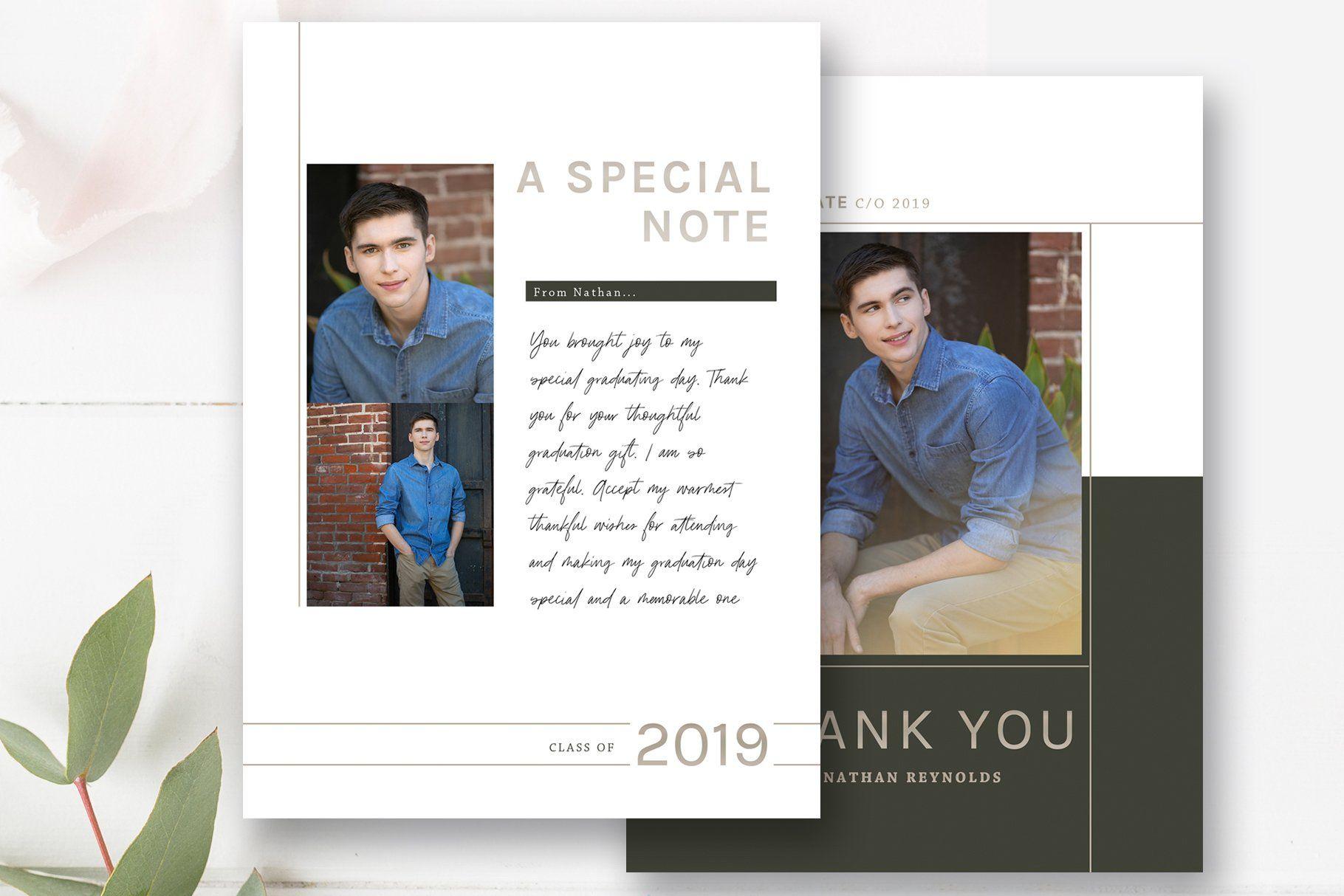 Graduation thank you card psd graduation thank you cards
