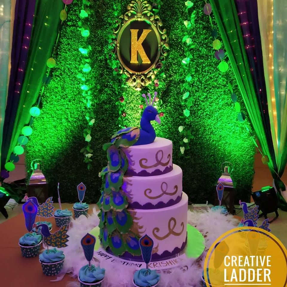 A Beautiful And Amazingly Creative Peacock Theme Birthday Decor