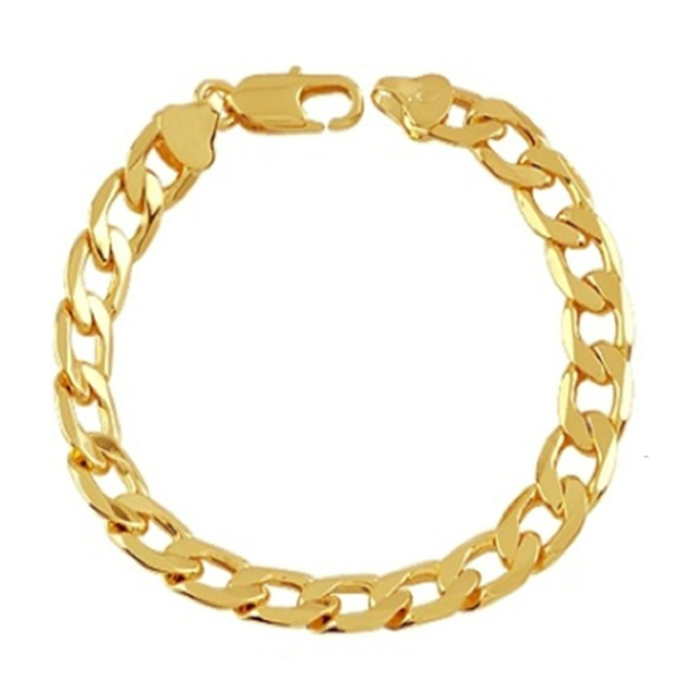 bracelet chain mens woman italian gold curb womens pin solid rings gf cuban