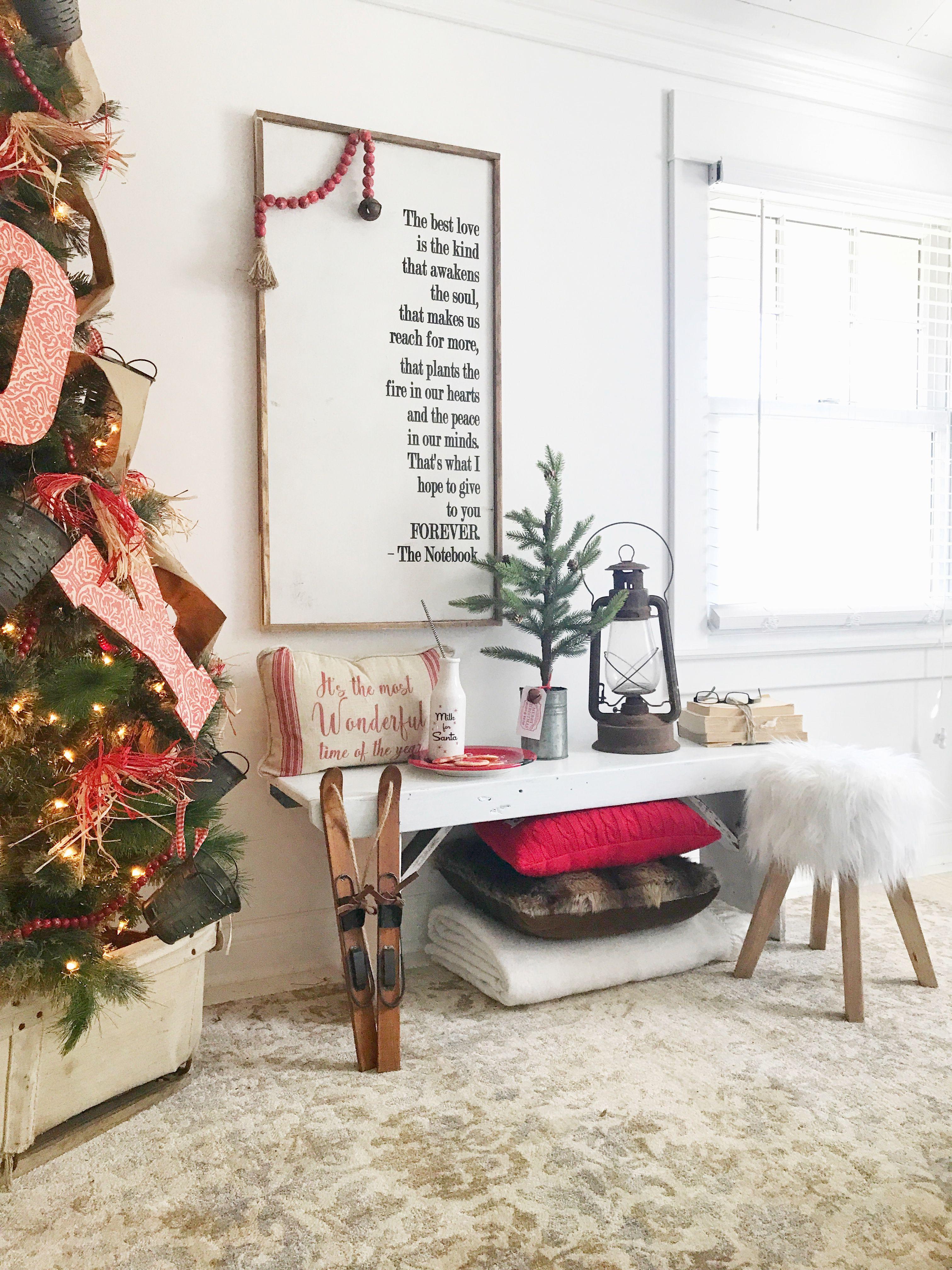 A Farmhouse Christmas with Hobby Lobby   DIY Christmas ...