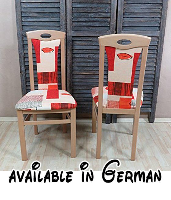 B00NBBT8Q2  moebel direkt online 2er Set Stuhl \ - wohnzimmer creme rot