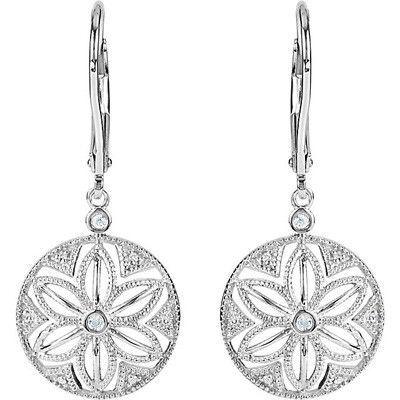 Pretty Genuine Gemstone Diamond Earrings at BitCoin Gems