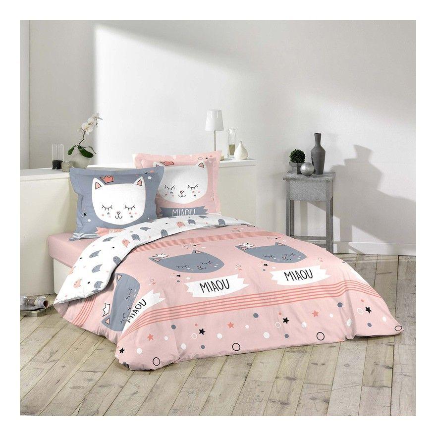 Housse De Couette 200x200 2 Taies Mimi Chat Coton 1hc200 Mimichat 1642990 Toddler Bed Bed Home Decor