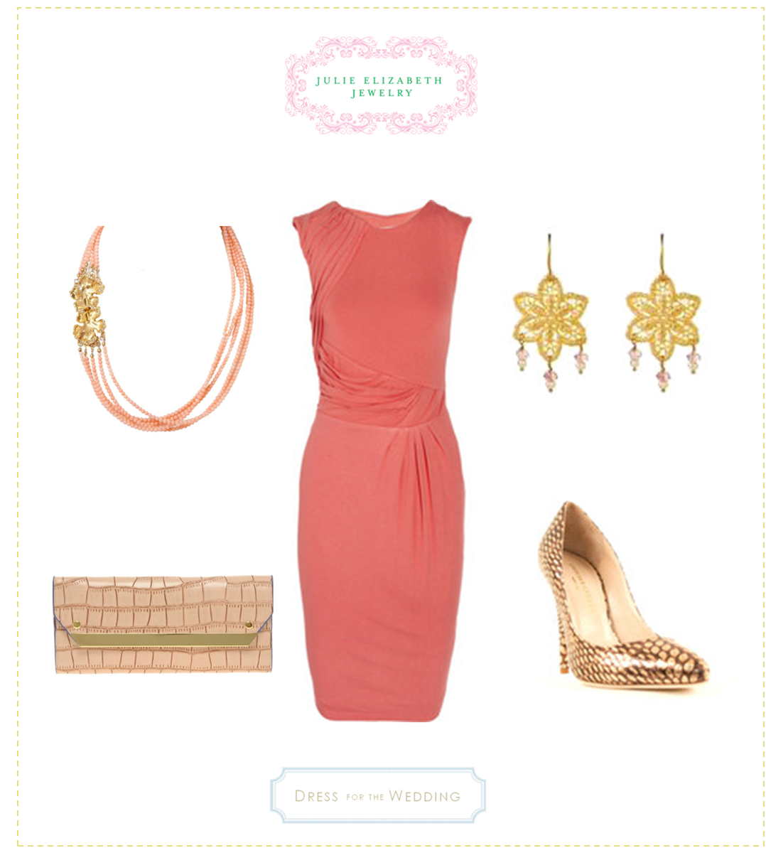 Julie elizabeth jewelry pink dresses weddings and clothes for Dress to wear as a guest to a wedding
