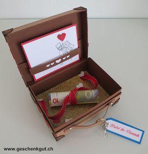 Geldgeschenk Hochzeit Hochzeitsreise Koffer  DIY