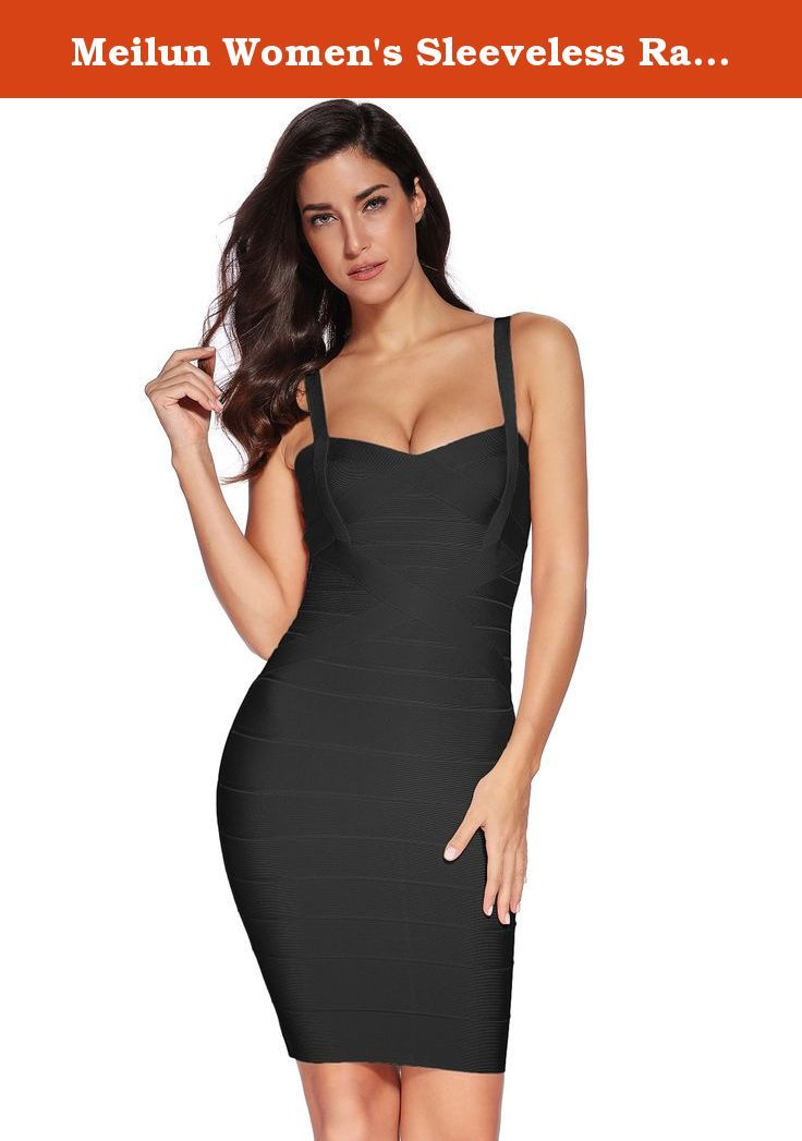 4cc863f92a7 Meilun Women s Sleeveless Rayon Bandage Bodycon Strap Dress Small Black.  Great Deal! Top Quality Accept wholesale and retail and MOQ 100%  satisfaction ...