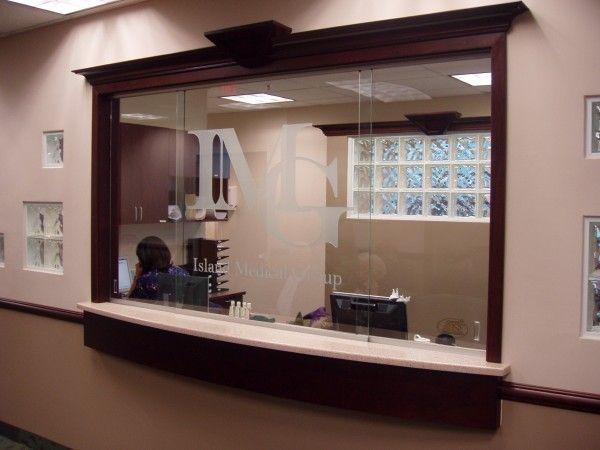 receptionist window