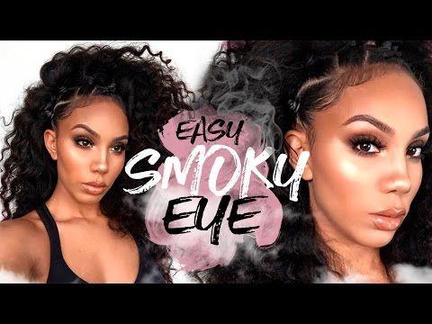 easy smoky eye makeup for beginners  youtube  eye
