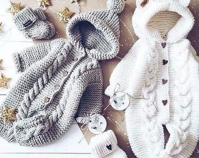 HAND KNITTING PATTERN- Baby romper knitting, Newborn ...