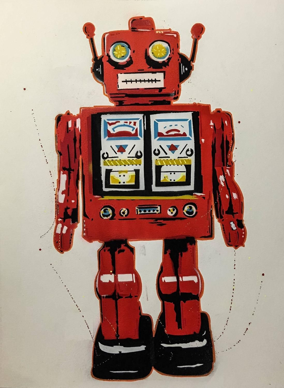 Sean Sullivan - Red Robot   140SR - Art for Sale   Sean sullivan